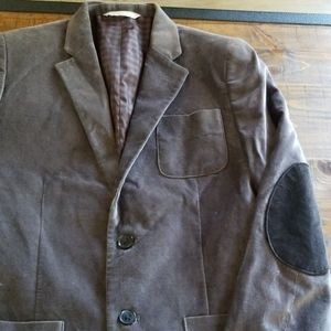 Mens Gray Retro Suit With Patched Elbows